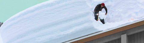Déneigement et déglaçage de toiture